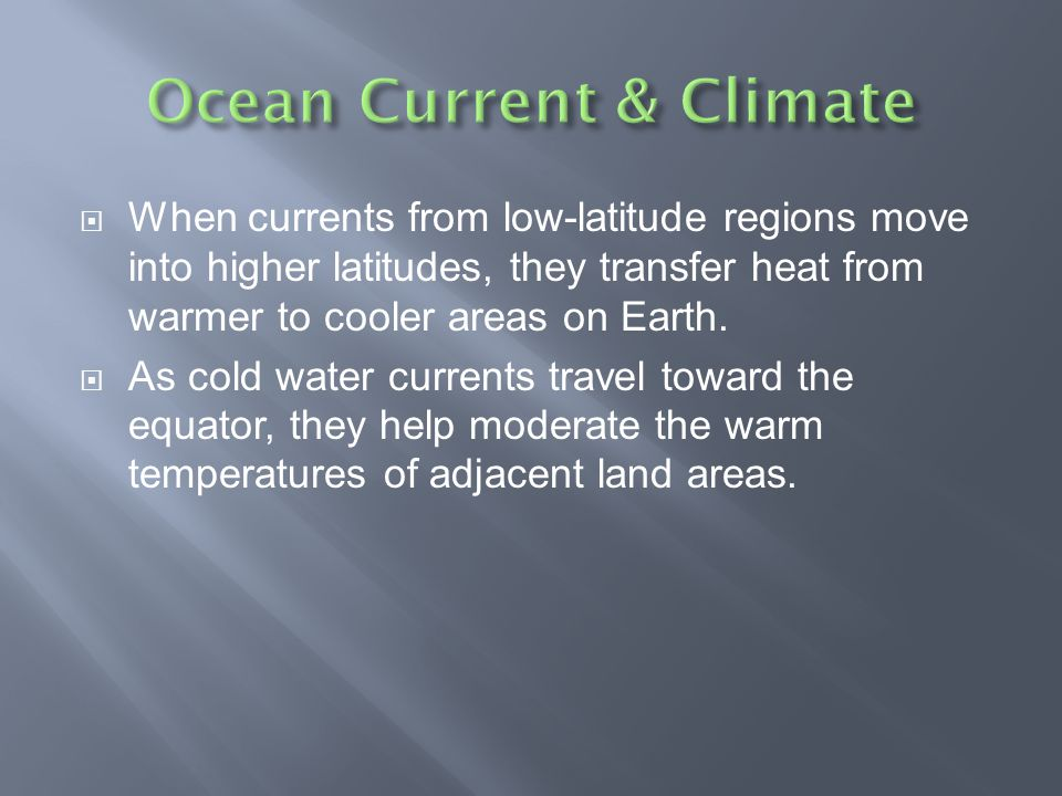 Ocean Current & Climate