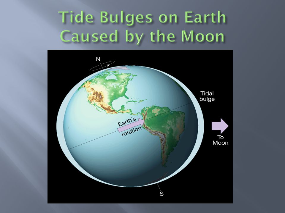 Tide Bulges on Earth Caused by the Moon