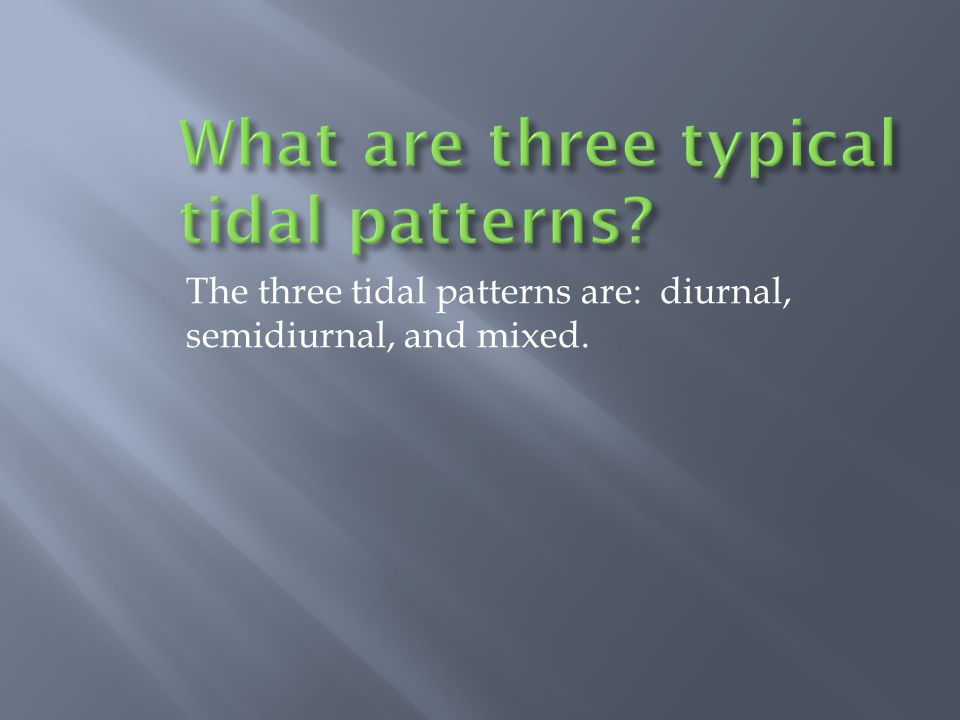 What are three typical tidal patterns