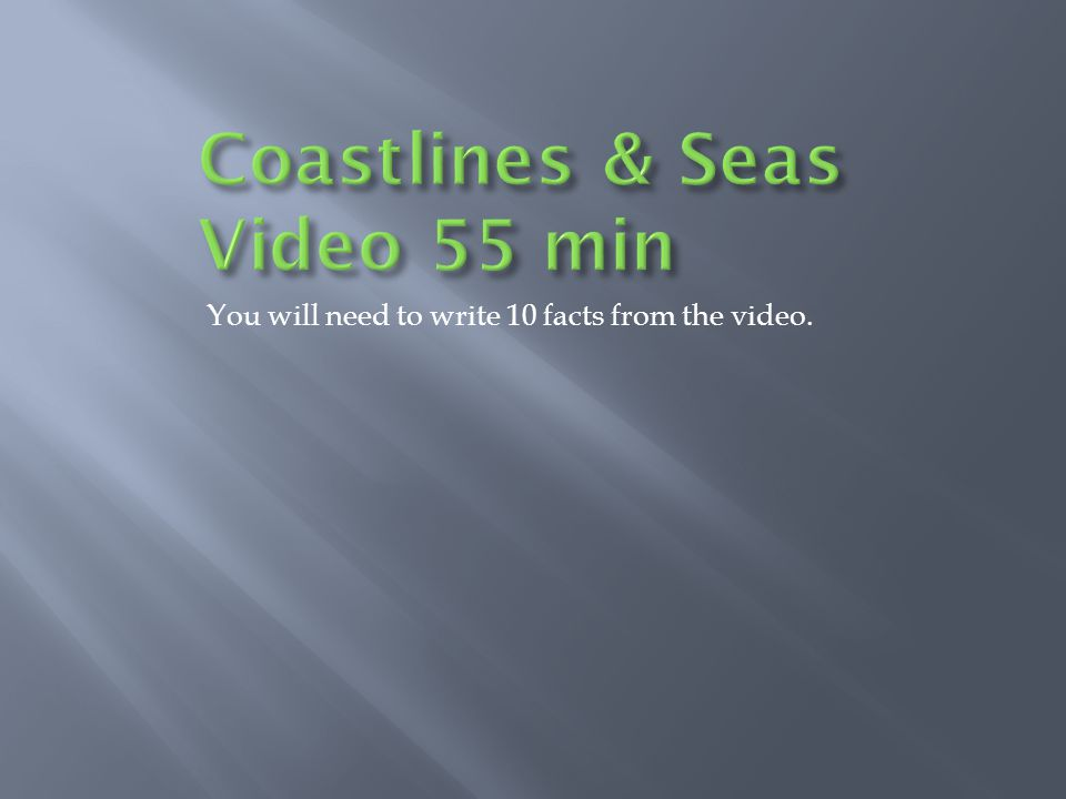 Coastlines & Seas Video 55 min