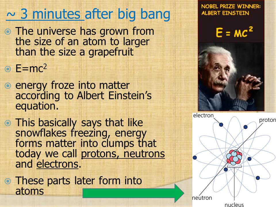 ~ 3 minutes after big bang