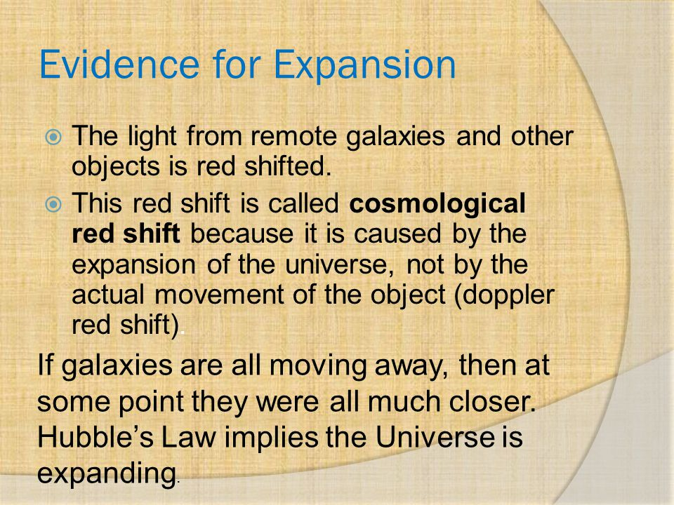 Evidence for Expansion