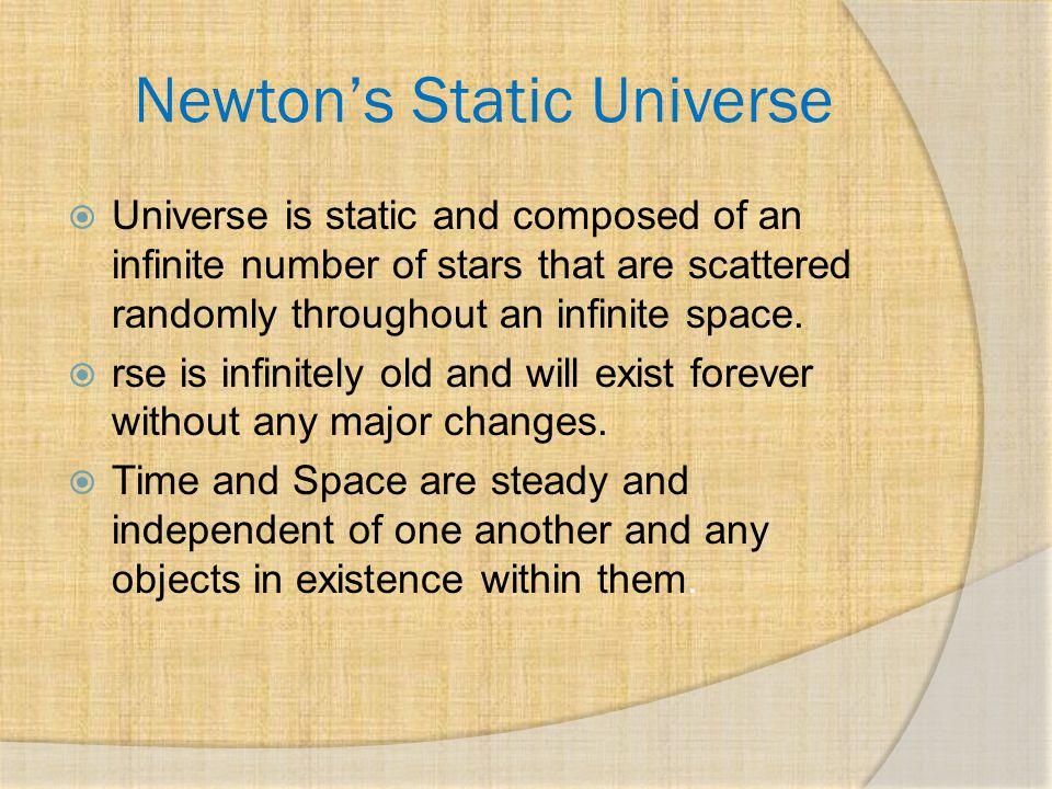Newton's Static Universe