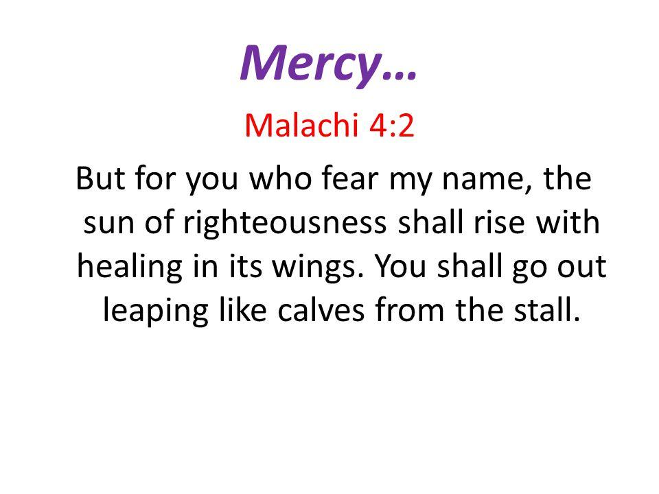 Mercy…