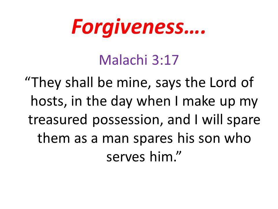 Forgiveness….