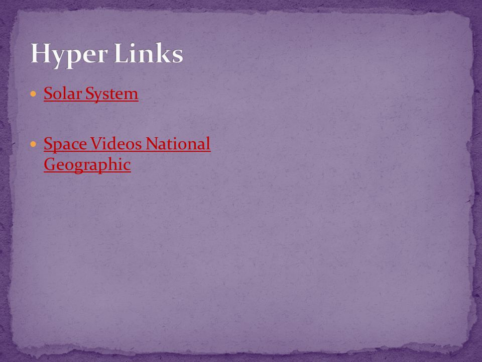 Hyper Links Solar System Space Videos National Geographic
