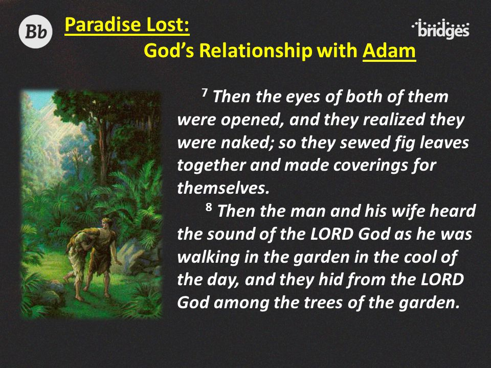 God's Relationship with Adam