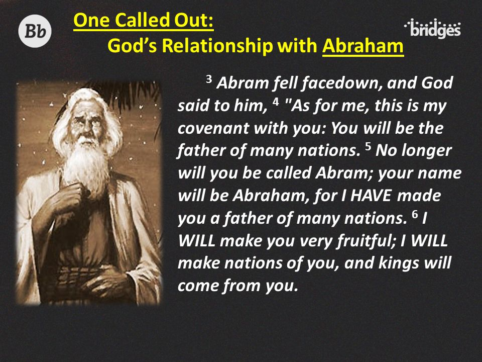 God's Relationship with Abraham