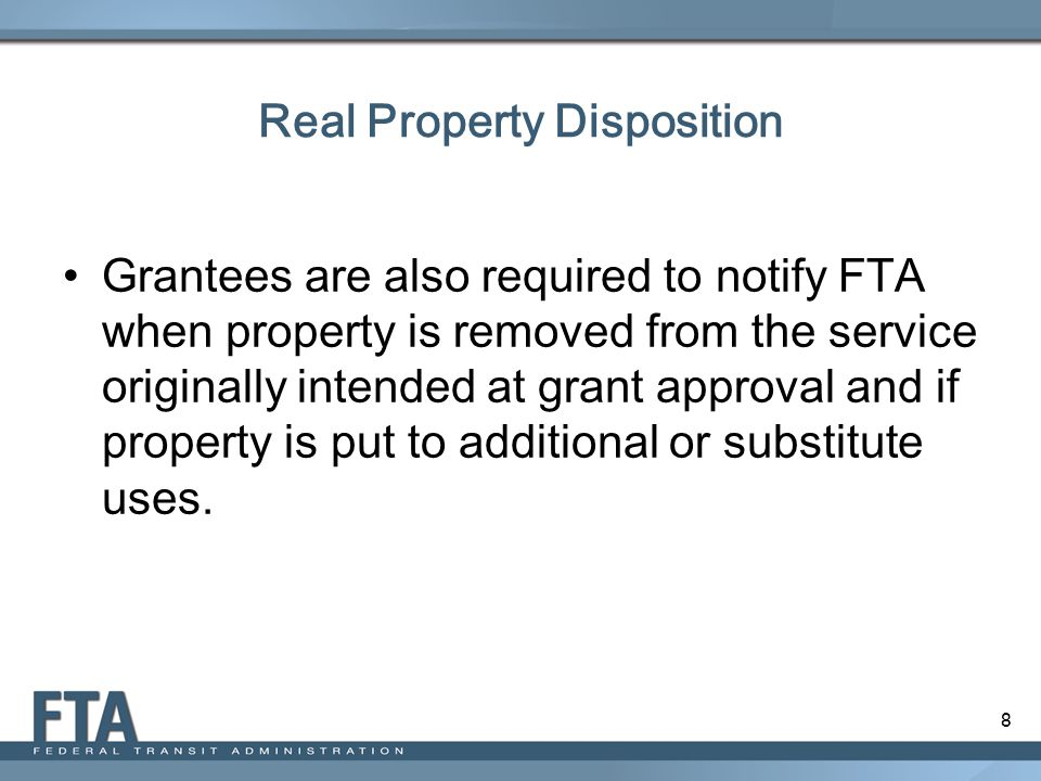 Real Property Disposition