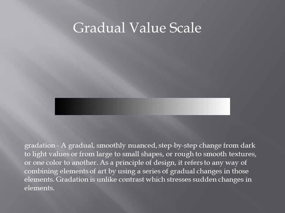 Gradual Value Scale