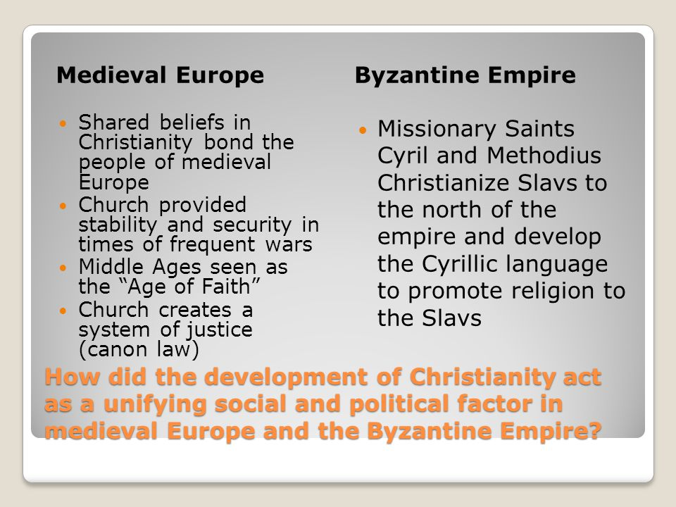 Medieval Europe Byzantine Empire