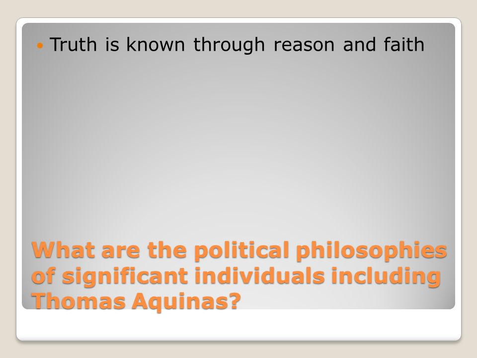 Truth is known through reason and faith