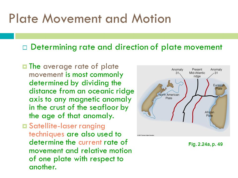 Plate Movement and Motion