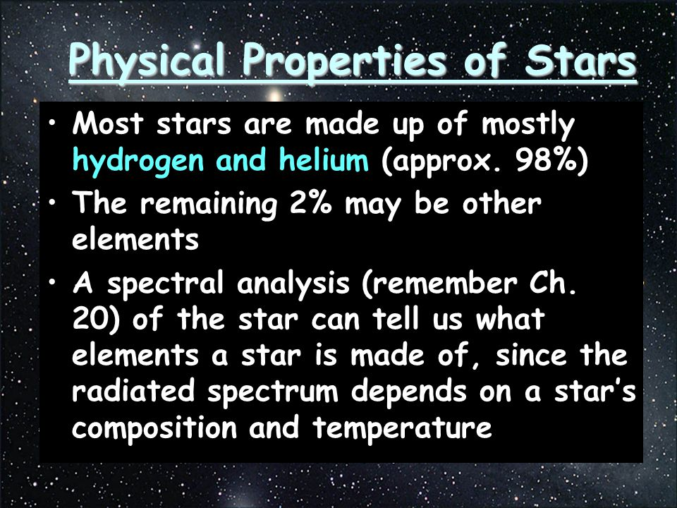 Physical Properties of Stars