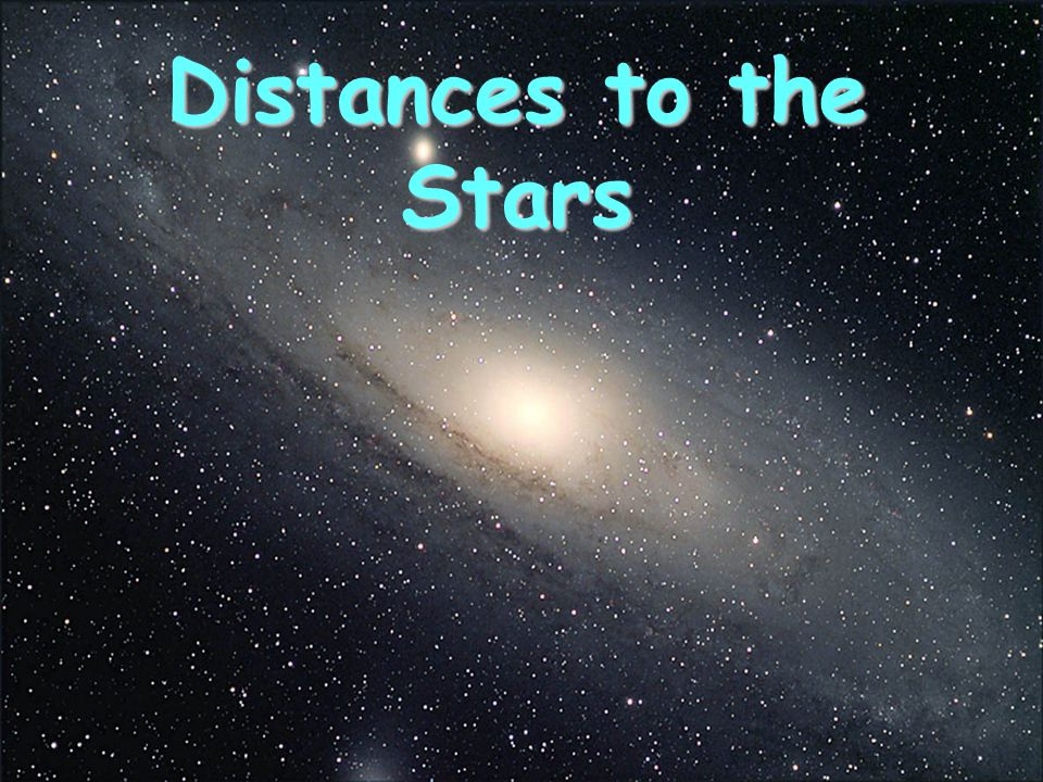 Distances to the Stars