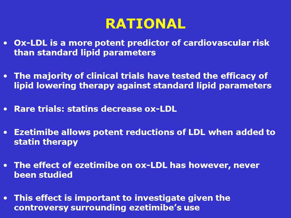 RATIONAL Ox-LDL is a more potent predictor of cardiovascular risk than standard lipid parameters.