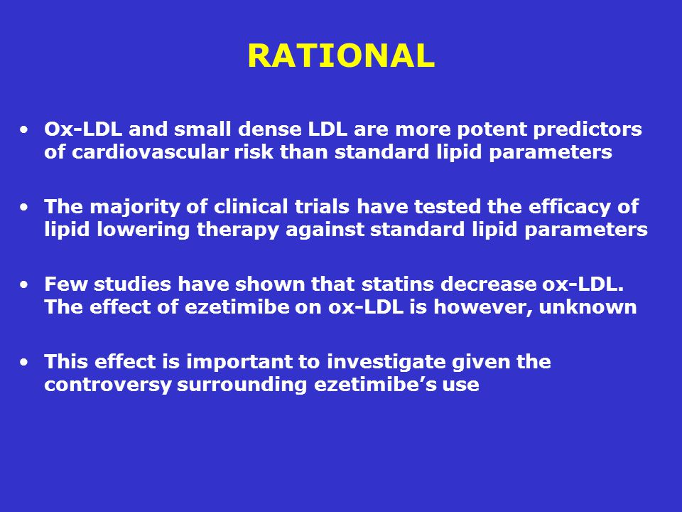RATIONAL Ox-LDL and small dense LDL are more potent predictors of cardiovascular risk than standard lipid parameters.
