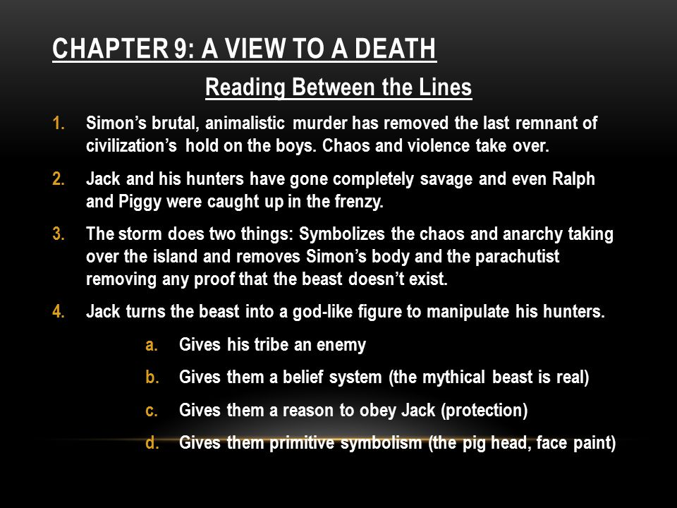 ChAPTER 9: A View to a Death