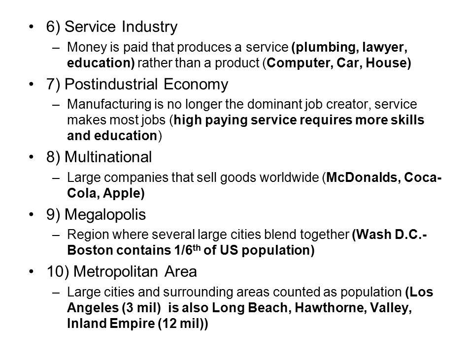 7) Postindustrial Economy