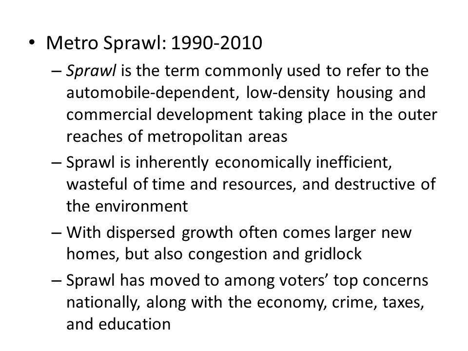 Metro Sprawl: 1990-2010