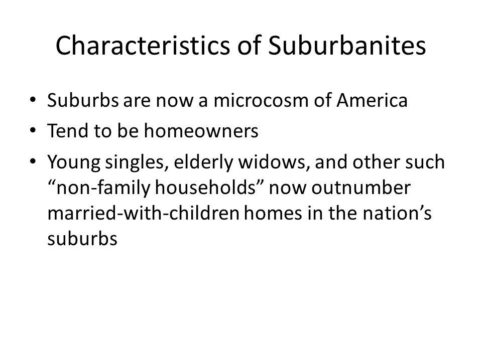 Characteristics of Suburbanites