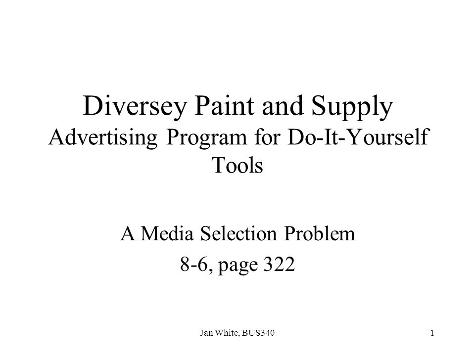 Diversey Paint and Supply Advertising Program for Do-It-Yourself Tools