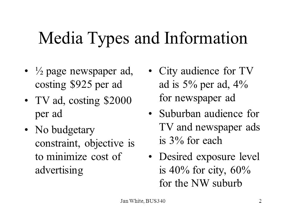 Media Types and Information