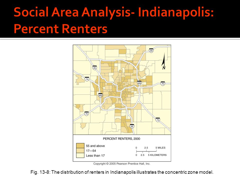 Social Area Analysis- Indianapolis: Percent Renters