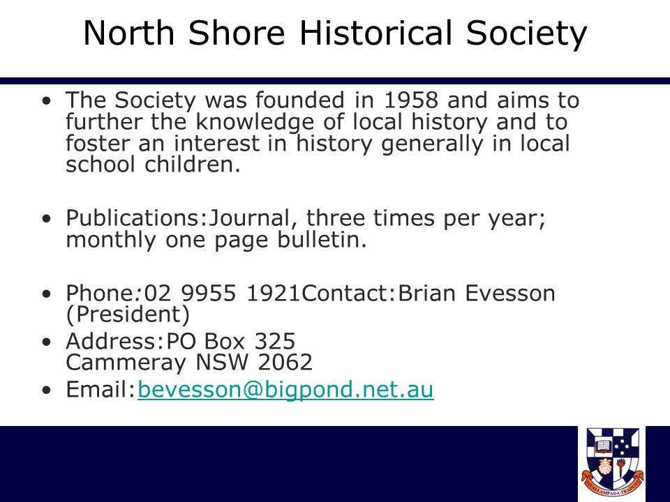 North Shore Historical Society