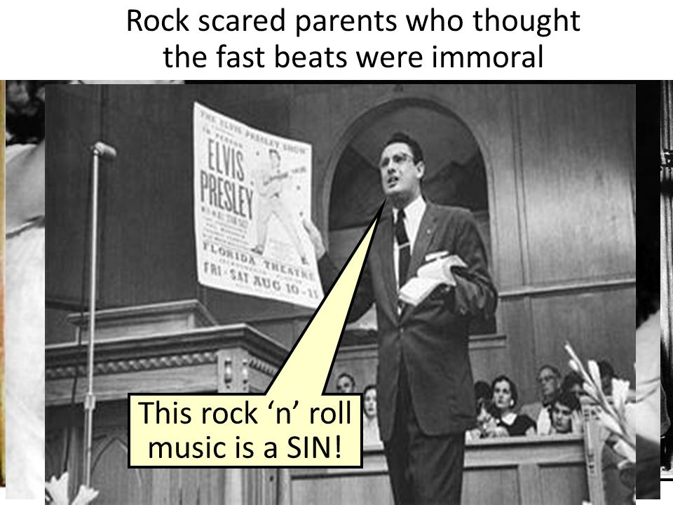 Rock scared parents who thought the fast beats were immoral
