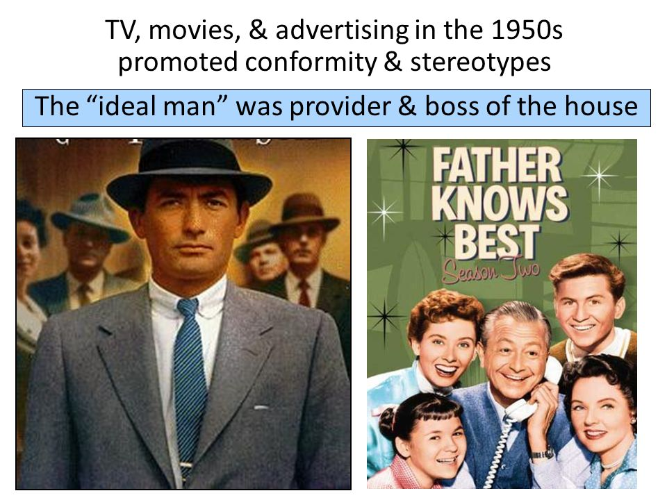 The ideal man was provider & boss of the house