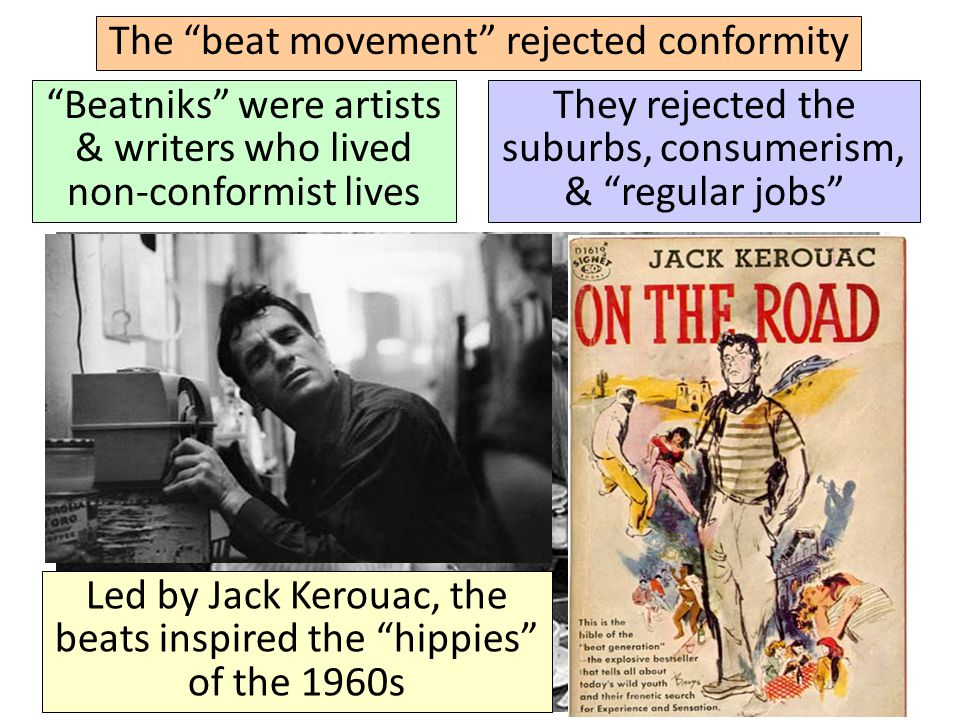 The beat movement rejected conformity