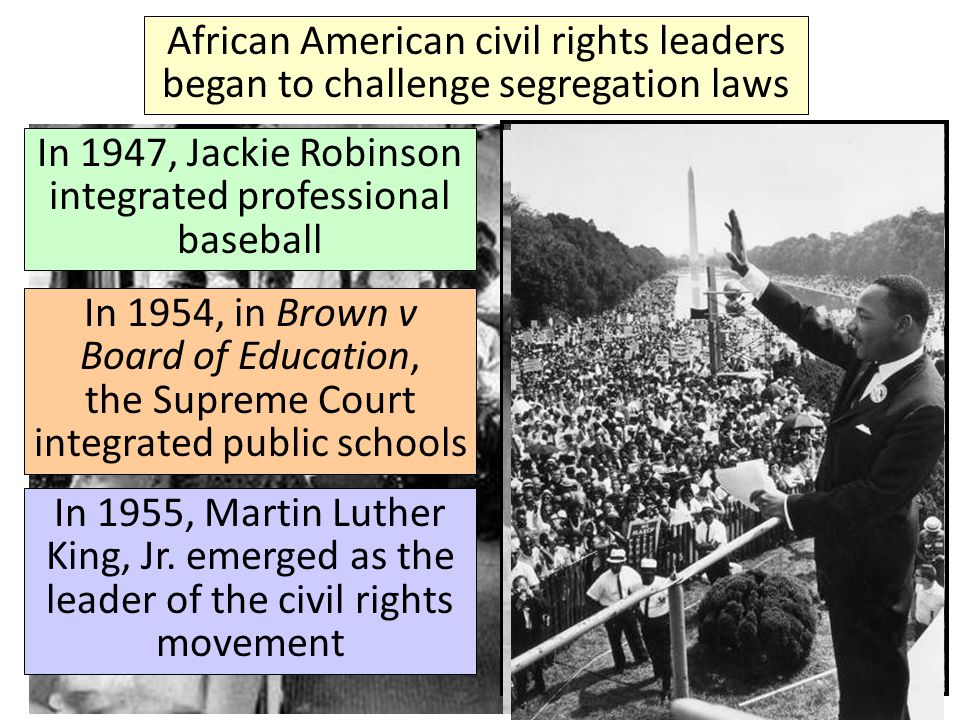 In 1947, Jackie Robinson integrated professional baseball