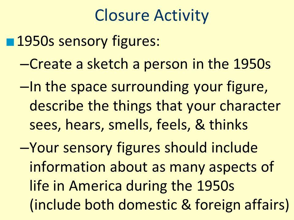 Closure Activity 1950s sensory figures: