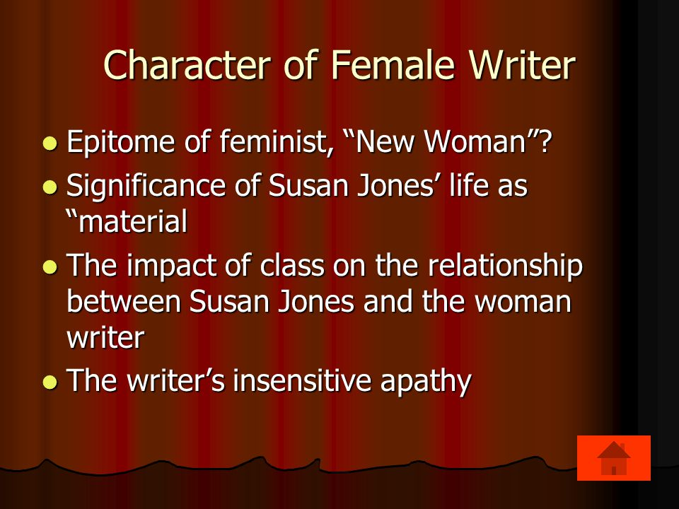 Character of Female Writer