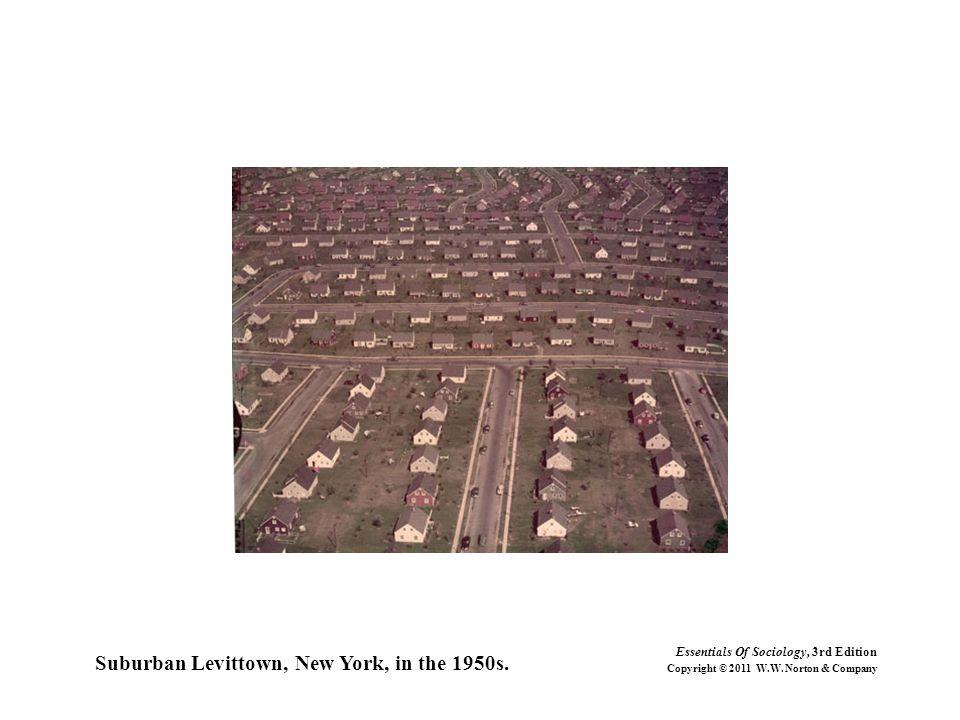 Suburban Levittown, New York, in the 1950s.