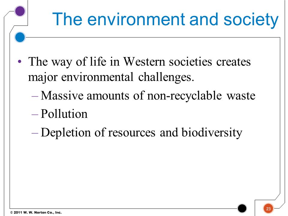 The environment and society