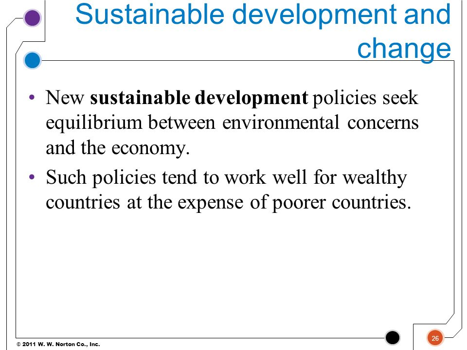 Sustainable development and change