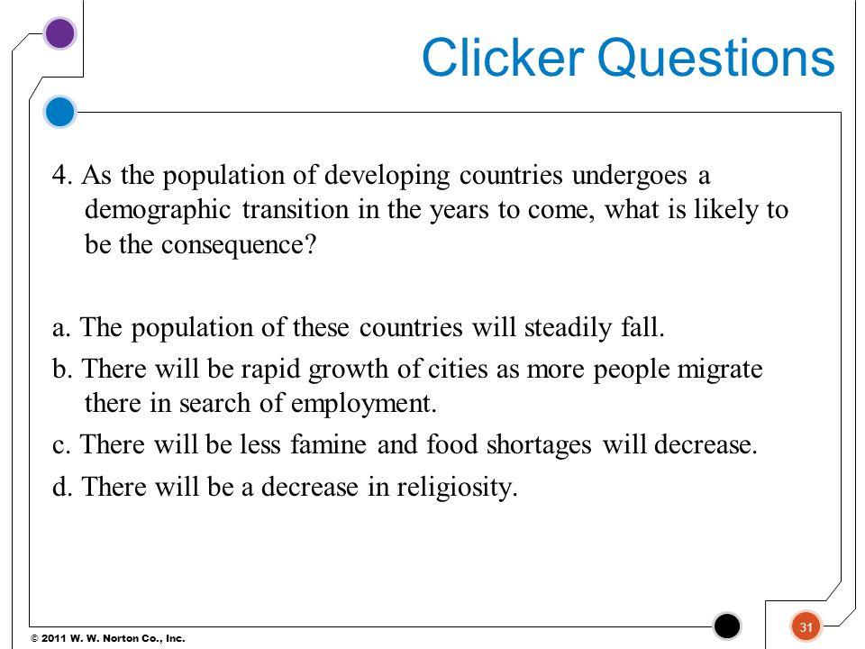 Clicker Questions
