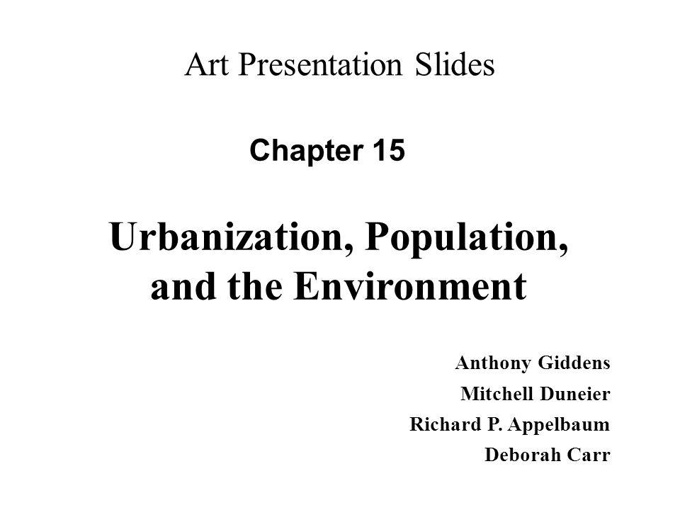 Urbanization, Population, and the Environment