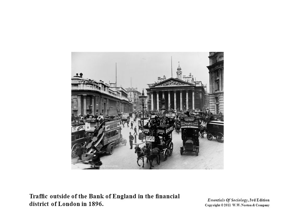 Traffic outside of the Bank of England in the financial