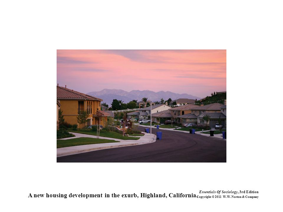 A new housing development in the exurb, Highland, California.