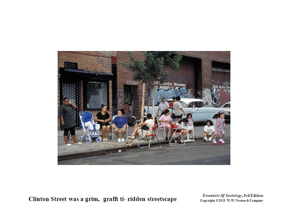 Clinton Street was a grim, graffi ti- ridden streetscape