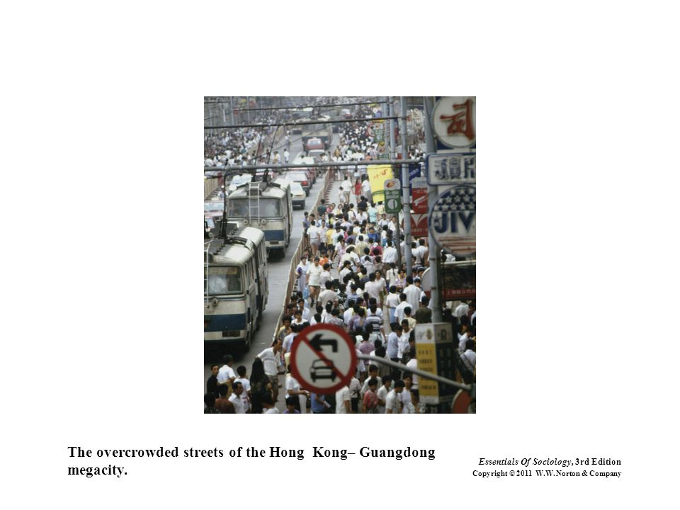 The overcrowded streets of the Hong Kong– Guangdong megacity.
