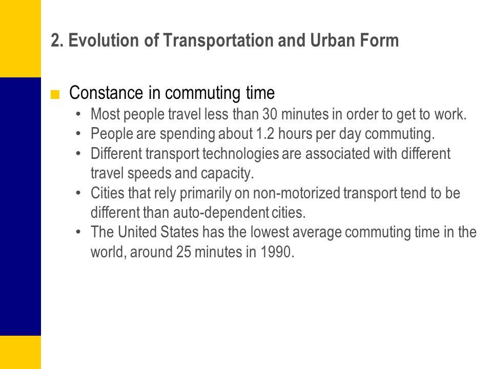 2. Evolution of Transportation and Urban Form