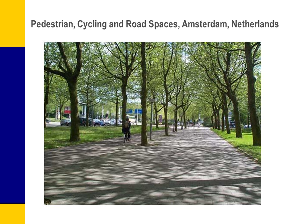 Pedestrian, Cycling and Road Spaces, Amsterdam, Netherlands