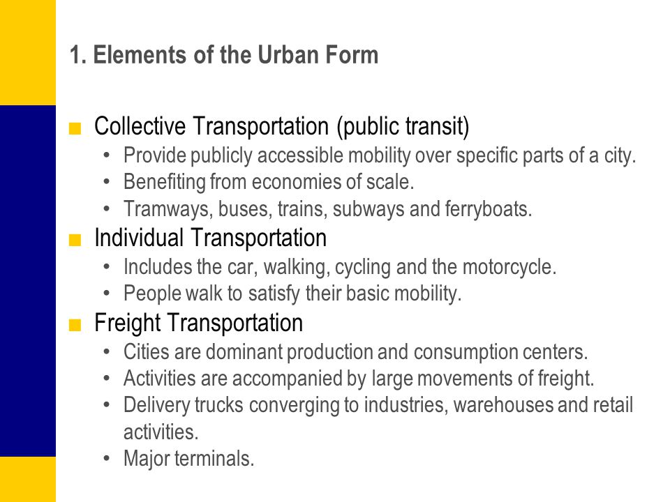 1. Elements of the Urban Form