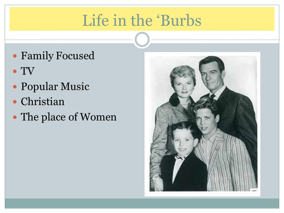 Life in the 'Burbs Family Focused TV Popular Music Christian