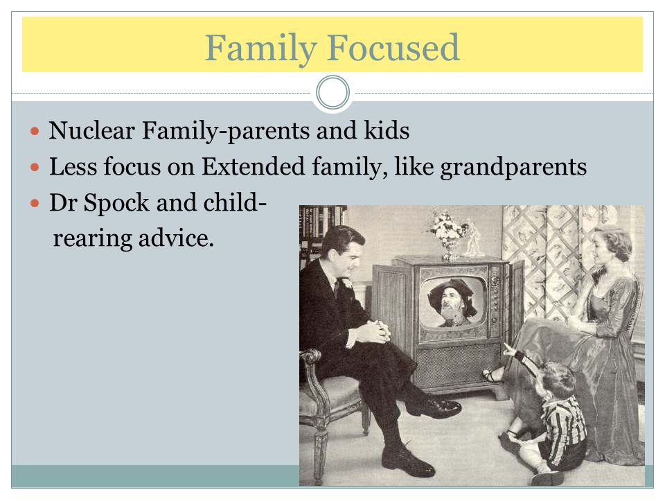 Family Focused Nuclear Family-parents and kids