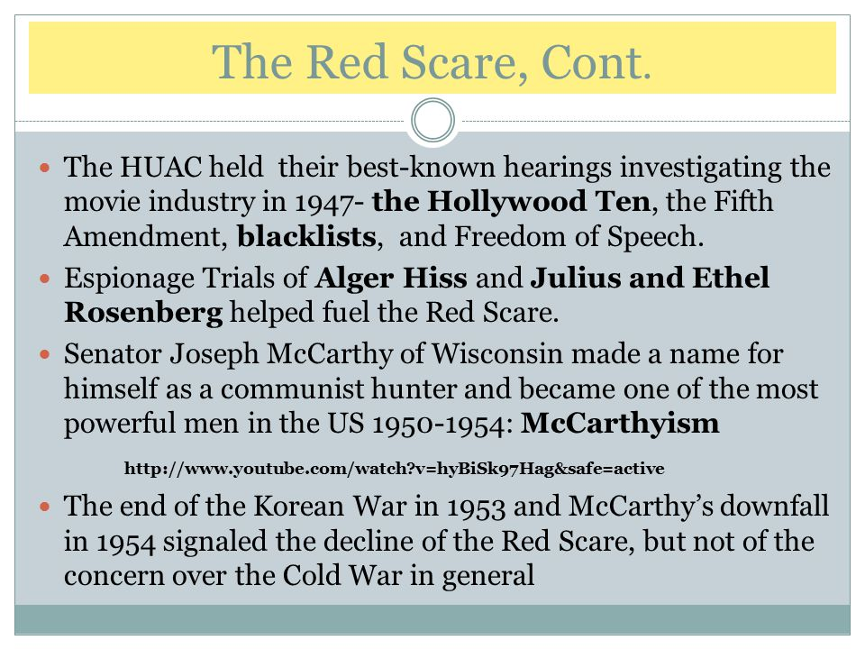 The Red Scare, Cont.